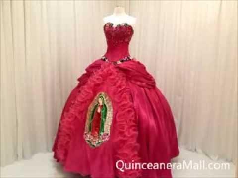 35c6b1a89d9 Virgen de Guadalupe Quinceanera Dress  10120 - YouTube