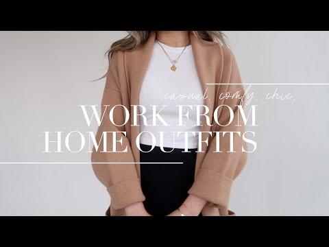 WORK FROM HOME (work outfits) lookbook | what to wear during coronavirus quarantine | Miss Louie - YouTube