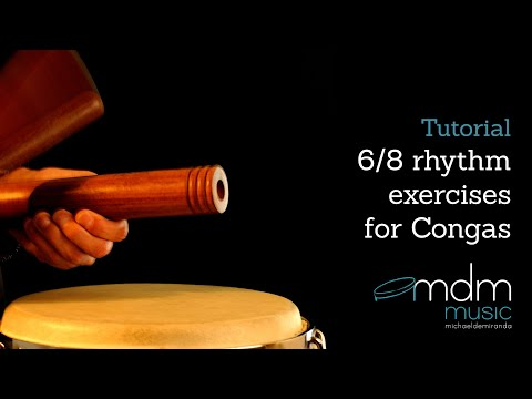 6/8 rhythm-exercises for congas