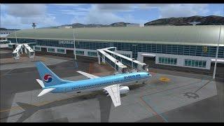Korean air 715 RKPK-RJAA on vatsim with real cabin announcement,fsx,pmdg 737ngx