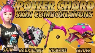 """Power Chord"" SKIN BEST BACKBLING + SKIN COMBOS! (Legendary skin) (Fortnite Battle Royale) (2018)"