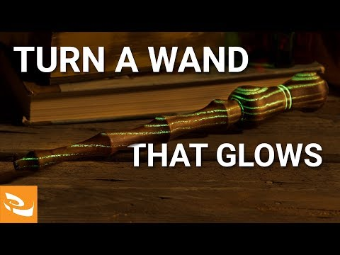 How to Turn a Wand that Glows (Woodturning Project)