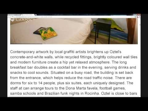 Travel: Top 10 hotels and hostels in Rio de Janeiro.