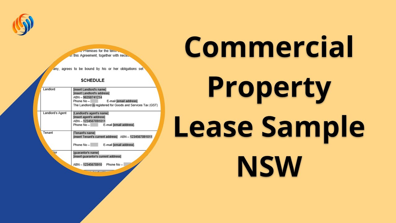 Commercial Property Lease Template Nsw Youtube