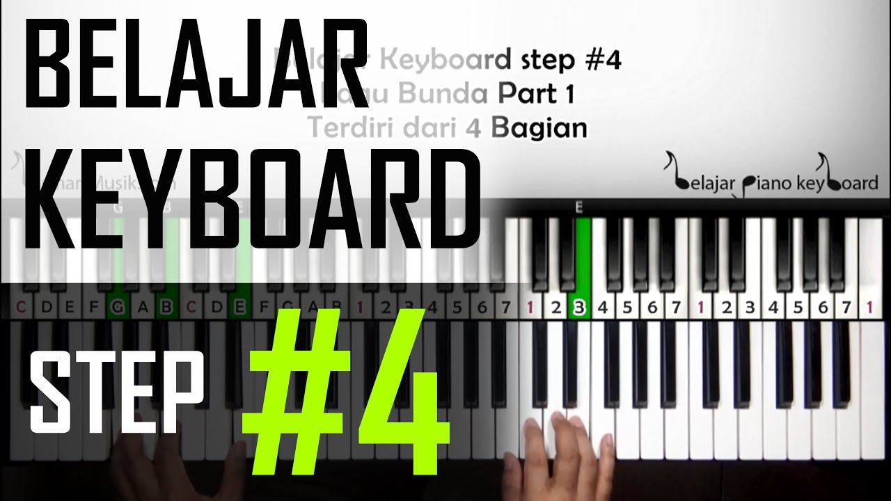 Belajar Keyboard 4 Tutorial Lagu Bunda Part 1 Pemula Youtube
