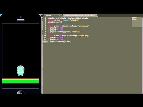 How To Make A Character Jump With Corona SDK - Part 1