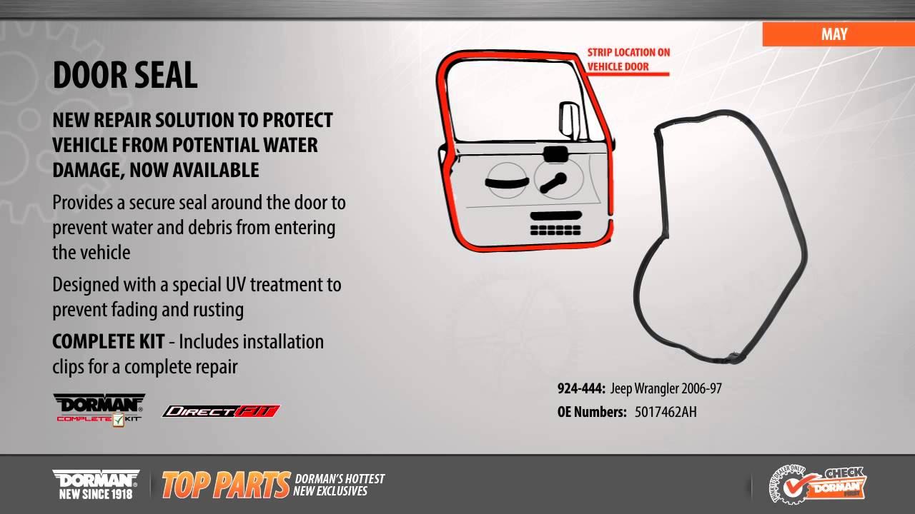 medium resolution of passenger door seal