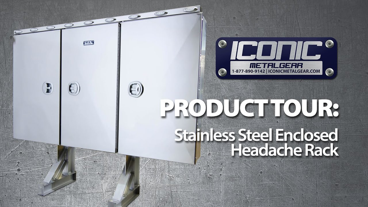 stainless steel enclosed semi truck headache rack product tour