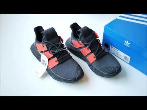 sale retailer 27837 2a34d Adidas Originals Prophere Black Solar Red Unboxing