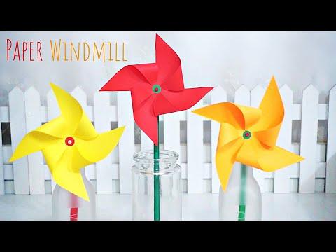 DIY Paper Windmill / Easy Tutorial :: 색종이 바람개비 만들기 / 종이로 바람개비 접기#1