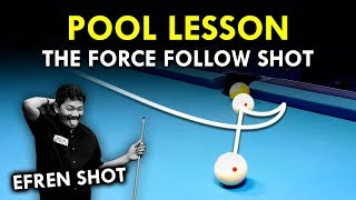 Pool Lesson | H๐w To Play And Use A Force Follow Shot