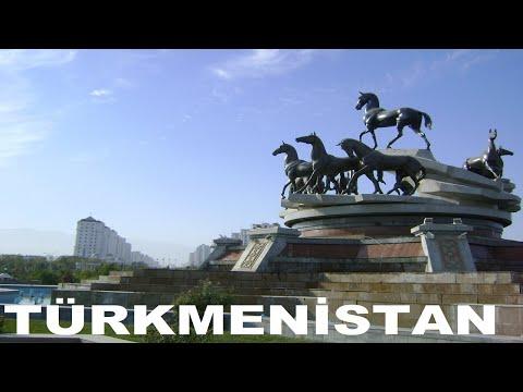 Türkmenistan 3. Bölüm   Ak Şehir Aşkabat Gece/İlham Parkı