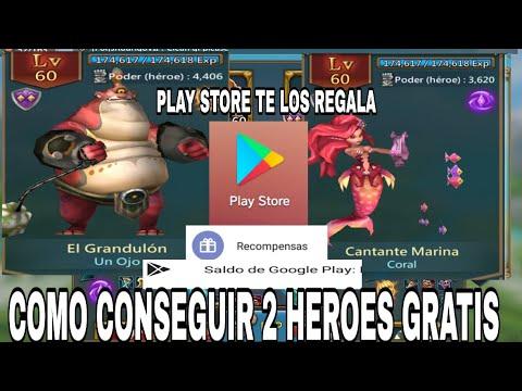 ¿Como Conseguir 2 Heroes Gratis Por PLAY STORE? -CONSEJOS Y MAS - LORDS MOBILE HD