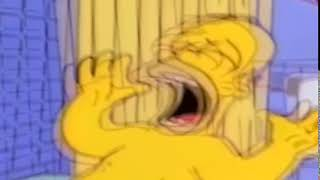 Bart Hits Homer With A Chair But With A Reeeee