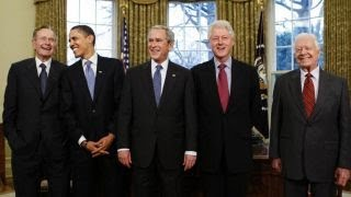 All five living former presidents team up for Harvey relief