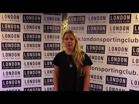 Victoria Gosling at the London Sporting Club