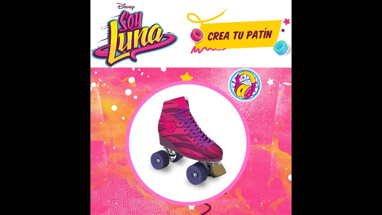 Crea tu propio patin soy luna youtube for Crea tu mural disney
