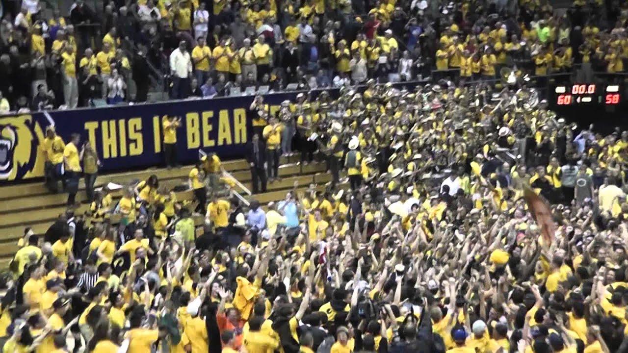 Cal Men's Basketball upsets #1 Arizona - Bears Win! Fans rush the court! - YouTube