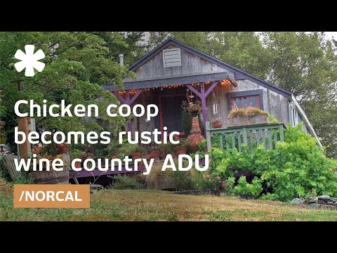 Converted chicken coop as small home for NorCal family