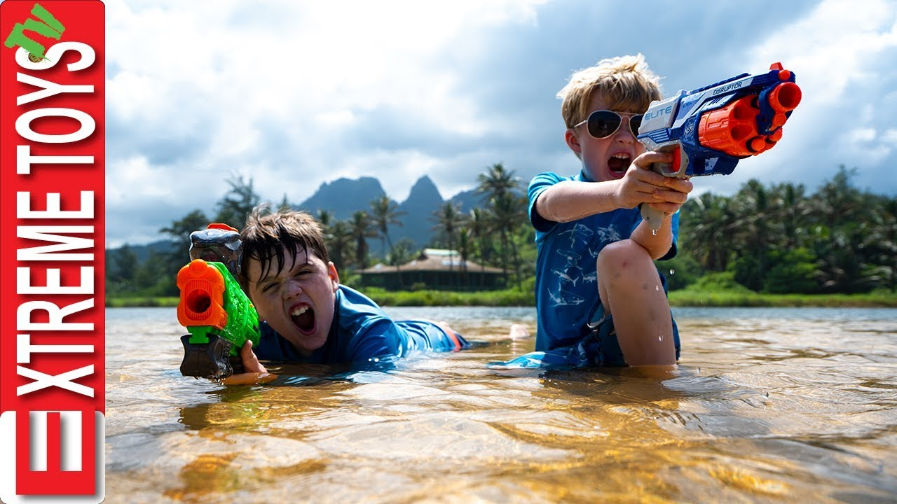 Download Nerf Battle With Jungle Creatures! Sneak Attack Squad Mayhem in Hawaii!