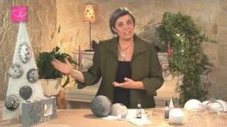 comment décorer boule polystyrène noel