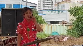 가락장구의 여신 채설아품바  천하를 흠치려 첫발을  내딛다 안산 시민시장 9월 21일~30일