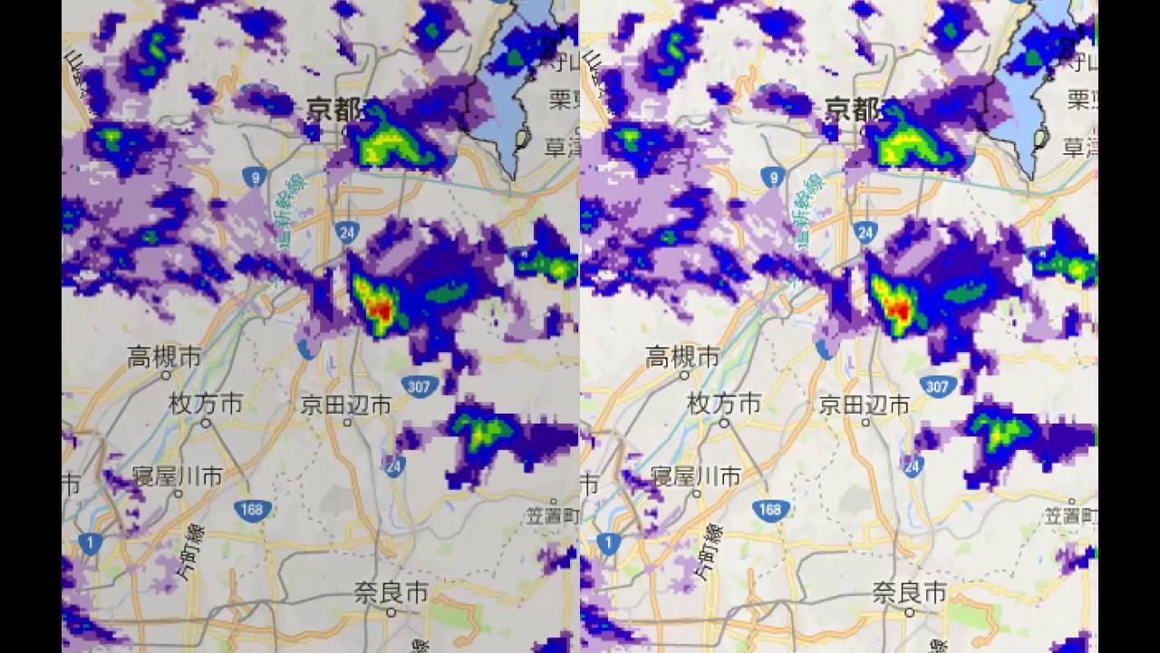 レーダー 枚方 天気 雨雲