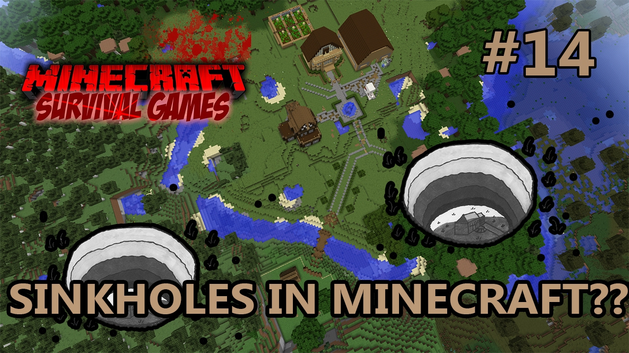 minecraft how to make a sinkhole