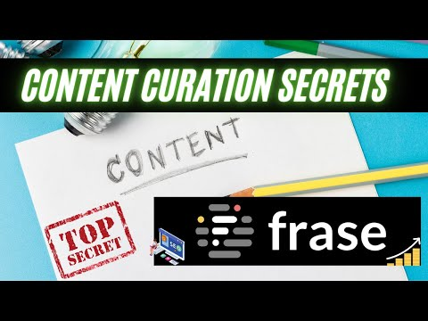 Content Curation With Frase IO 2021 - How To Find & Write Your Blog In 15 Min!