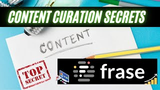Content Curation With Frase IO 2021 | How To Find & Write Your Blog In 15 Min! Medium (360p)