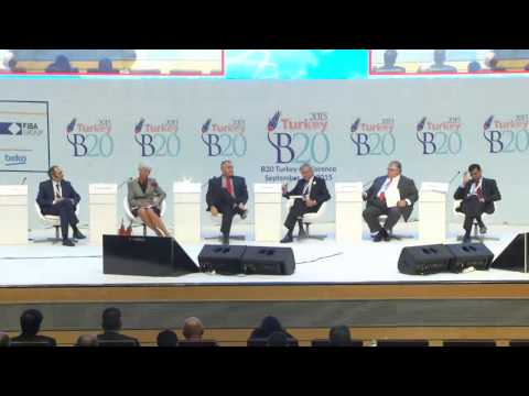 Plenary Session with G20 Finance Ministers & CB Governors, Sep 4th 2015, B20 Conference