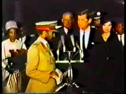 Emperor Haile Selassie visits US President John F. Kennedy, October 1963  pt. 1