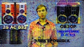 Акустика Электроника 25 АС 033 - ОБЗОР