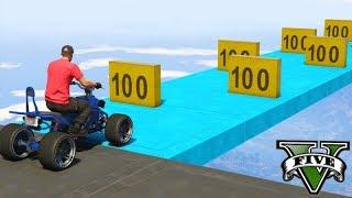GTA V Online: O PARKOUR de 100 OBSTÁCULOS!!! (PLACA de 100)