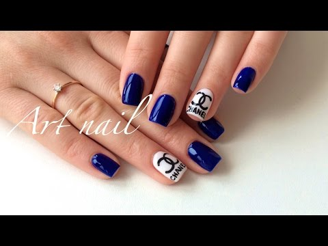 Дизайн ногтей в темном цвете фото