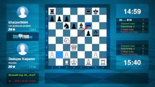 Chess Game Analysis: Зайцев Кирилл - khaizer9684 : 1-0 (By ChessFriends.com)