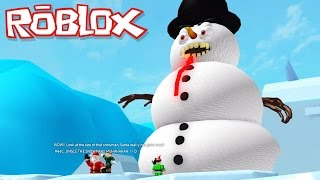 Roblox Adventures / Escape Santa's Workshop Obby / Escaping the Giant Evil Snowman!