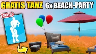 FREE Items 🎁 Dance at Beach Party | Fortnite 14 Days Summer Challenge German