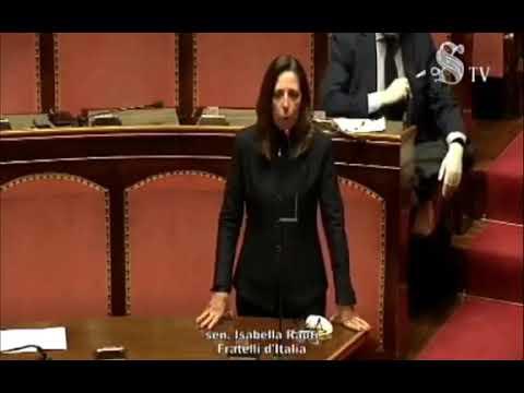 FdI Parlamento - L'intervento della Sen. Rauti sulla votazione del calendario d'Aula