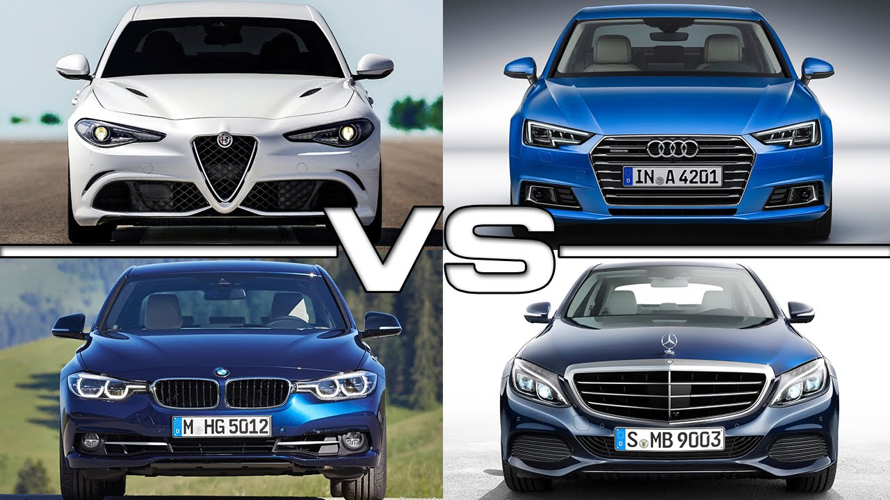 Alfa romeo giulia vs audi a4 vs bmw 3 series vs mercedes c for Alfa romeo vs mercedes benz