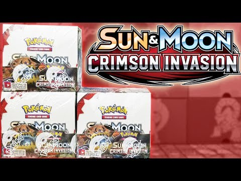 HALF A BOOSTER CASE! OPENING 3 CRIMSON INVASION BOOSTER BOXES OF POKEMON CARDS!!!