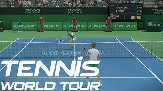 Tennis World Tour - Stefanos Tsitsipas vs Alexander Zverev - PS4 Gameplay