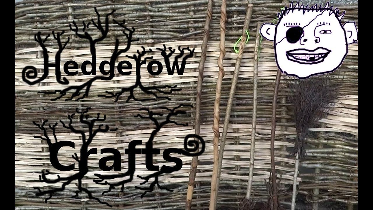 Hedgerow crafts hurdle making and besom brooms Gappy style