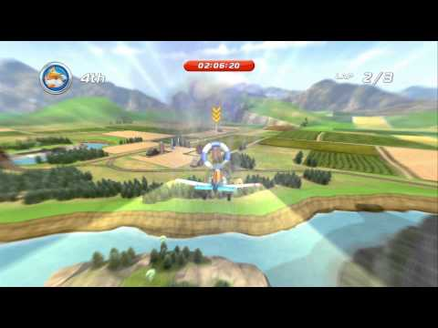 Disney Planes (Wii U) - Air Rally Propwash Junction - Featuring Dusty Crophopper (Platinum Medal)