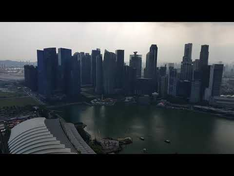 Marina by the bay Singapore. View from 57th floor.