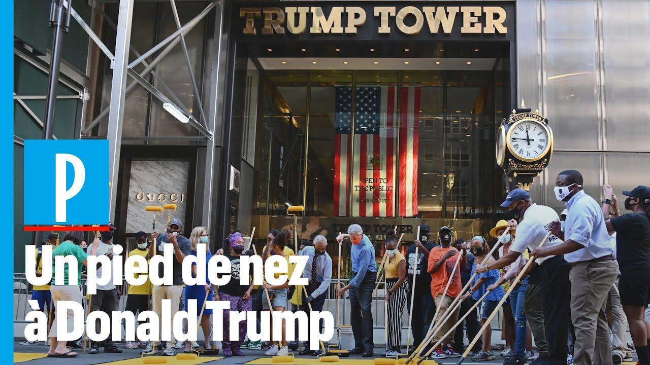 « Black Lives Matter » s'affiche au pied de la Trump Tower