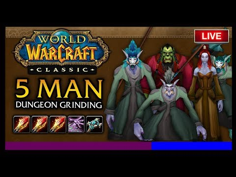 🔥TESTING 5 MAN AOE DUNGEON GRIND XP / HR - CLASSIC WOW BETA HYPE