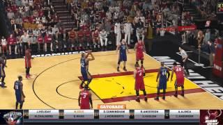 NBA2K15 PC -Exhibition Pelicans vs Miami Overtime WIN