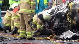 Chauffeur zwaar gewond na ongeval met 2 vrachtwagens A1 Barneveld - 17 07 2014