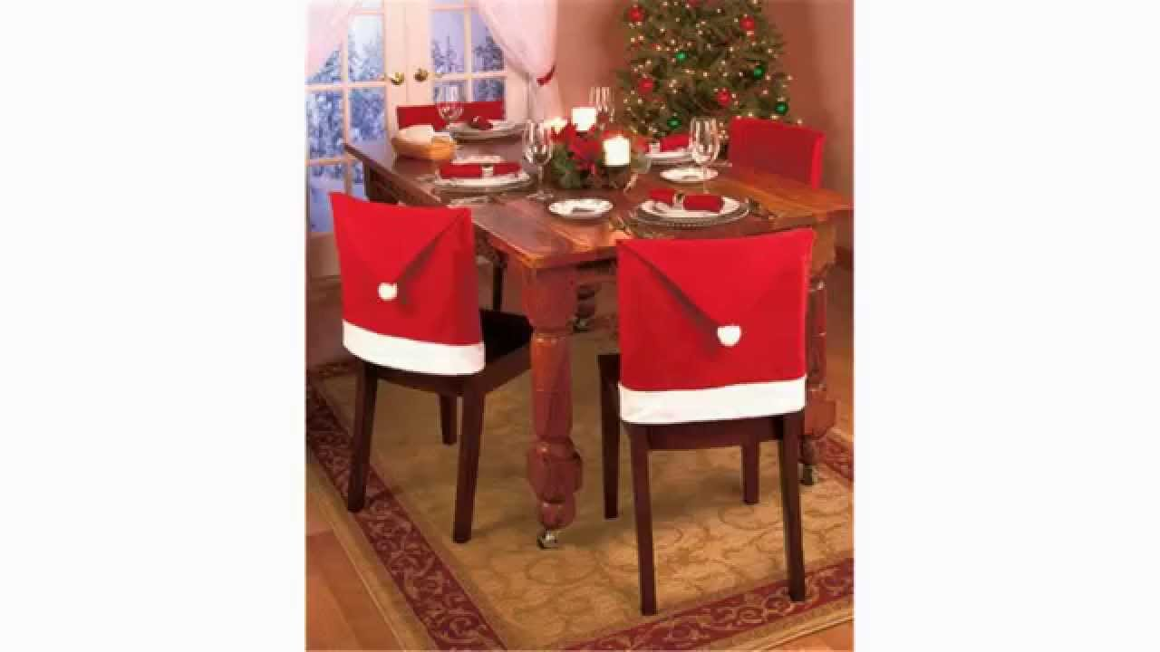 christmas dining room chair covers bean bag amazon hat perfect santa claus clause youtube